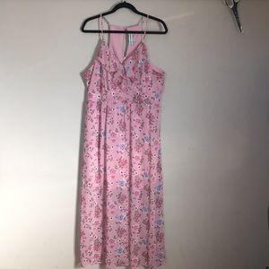 ALMOST FAMOUS ROSE FLORAL SPAG STRAP DRESS SIZE XL